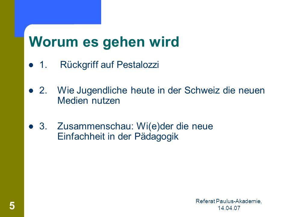 Referat Paulus-Akademie, 14.04.07