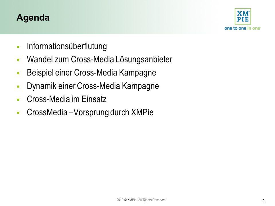 Agenda Informationsüberflutung. Wandel zum Cross-Media Lösungsanbieter. Beispiel einer Cross-Media Kampagne.