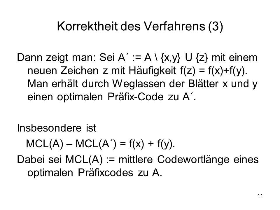 Korrektheit des Verfahrens (3)