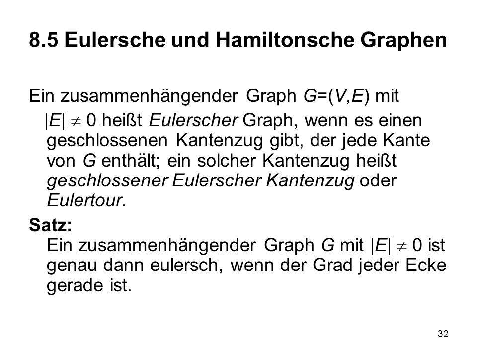8.5 Eulersche und Hamiltonsche Graphen