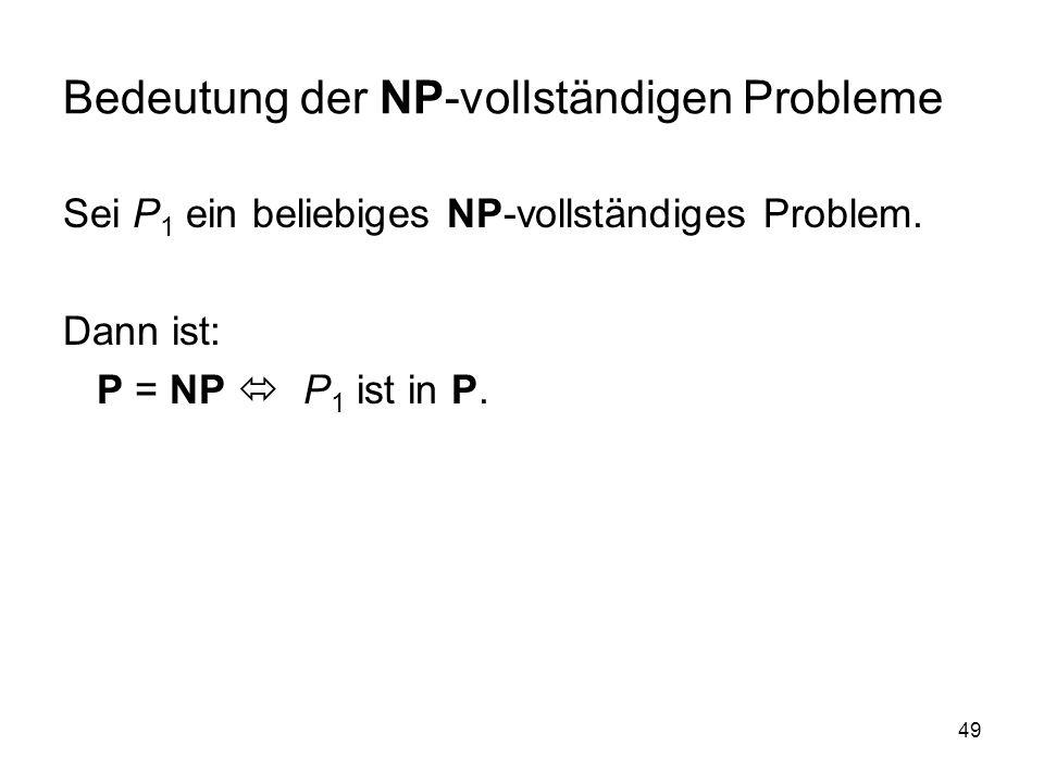 Bedeutung der NP-vollständigen Probleme