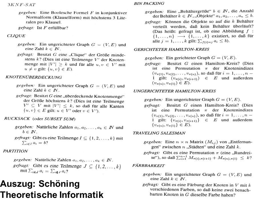 Auszug: Schöning Theoretische Informatik