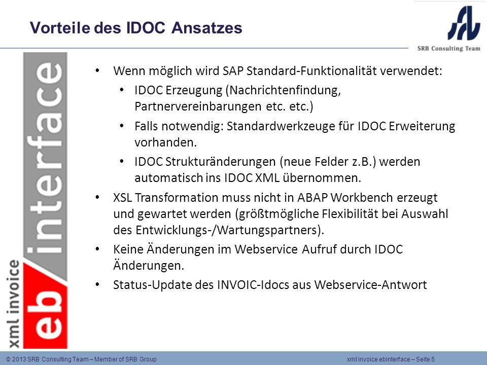 Vorteile des IDOC Ansatzes