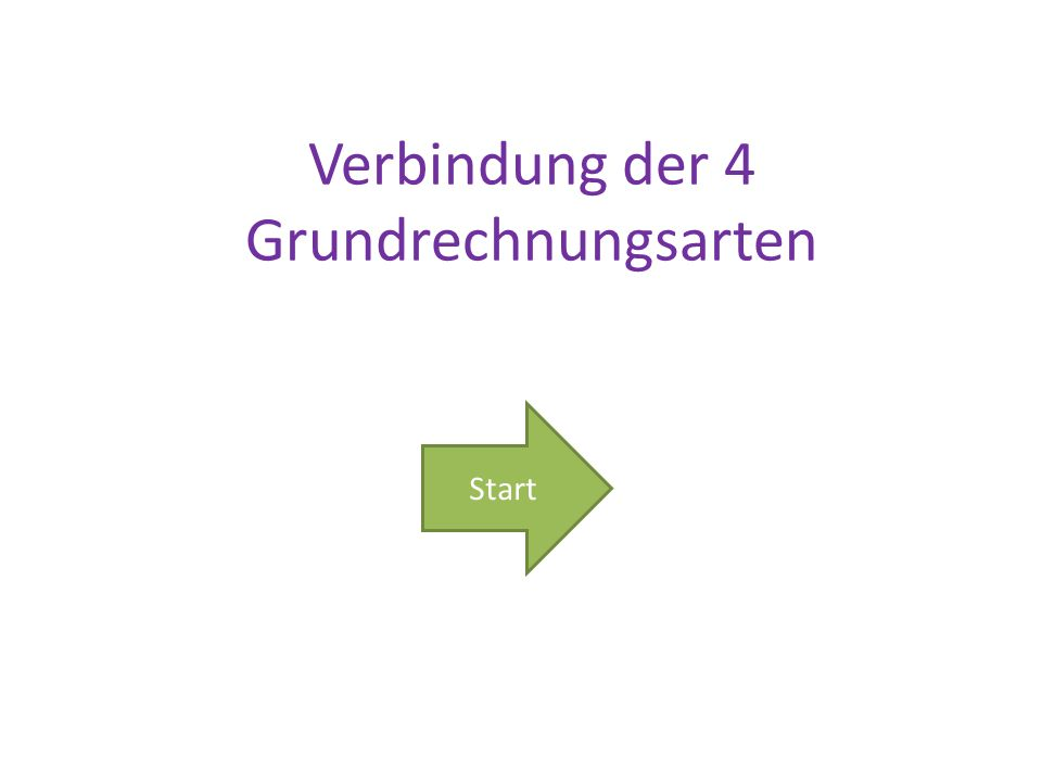 Verbindung der 4 Grundrechnungsarten