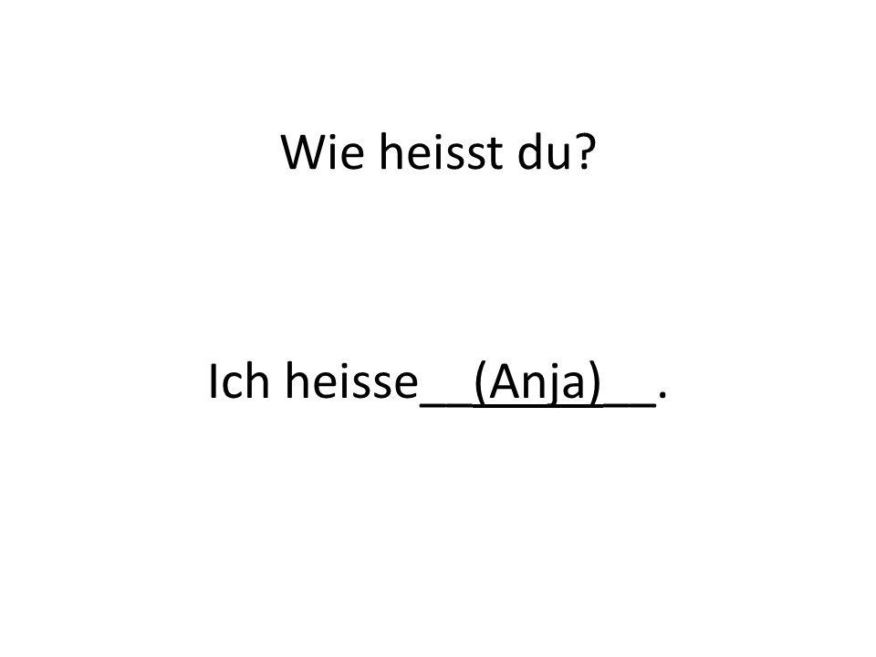 Wie heisst du Ich heisse__(Anja)__.