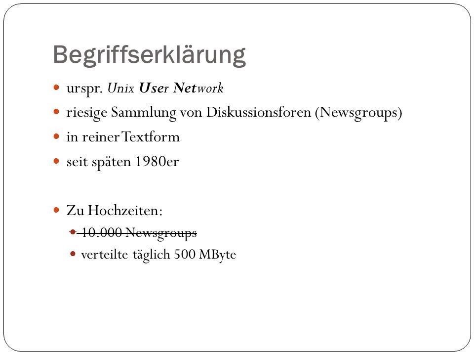 Begriffserklärung urspr. Unix User Network