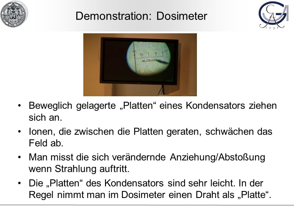 Demonstration: Dosimeter