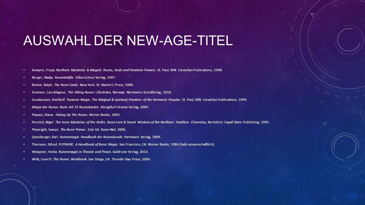 Auswahl der New-Age-titel