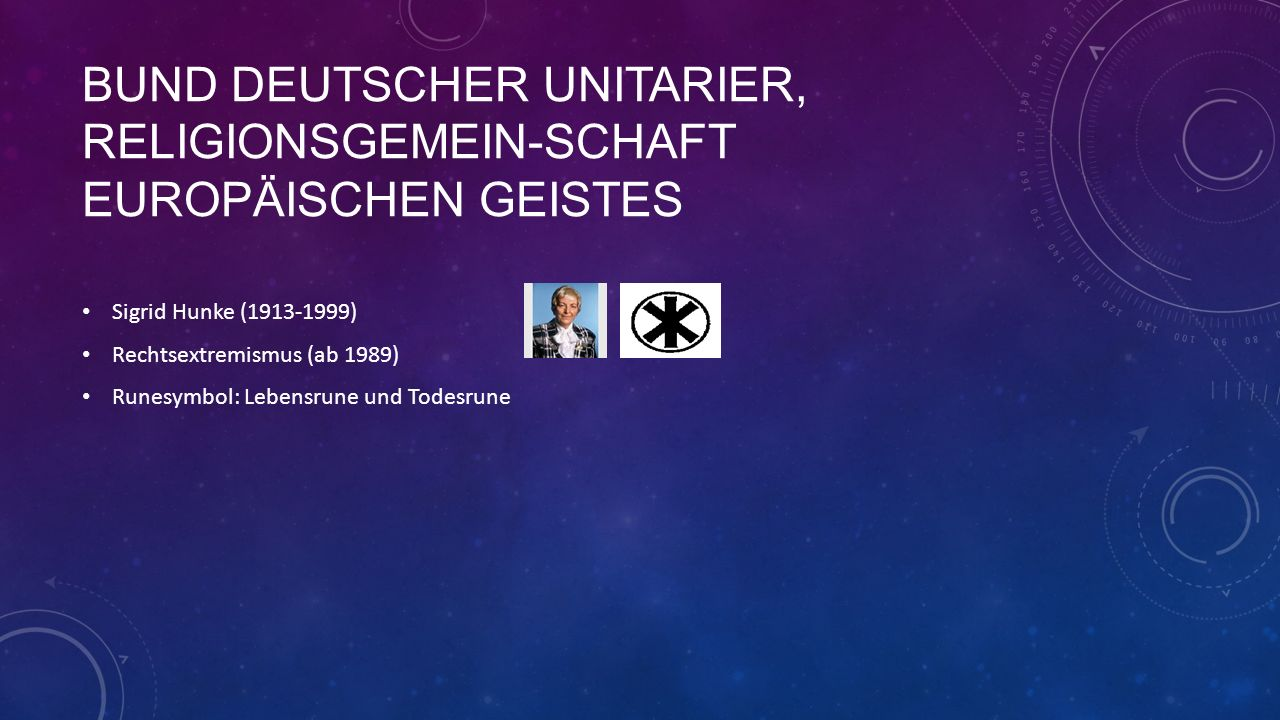 Bund Deutscher Unitarier, Religionsgemein-schaft europäischen Geistes