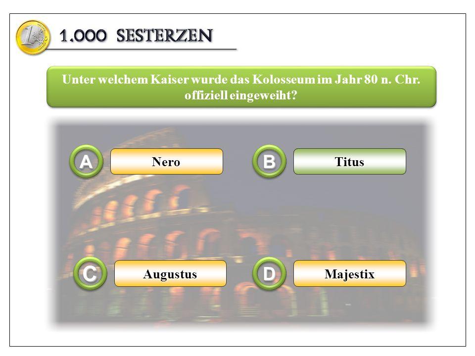 Unter welchem Kaiser wurde das Kolosseum im Jahr 80 n. Chr