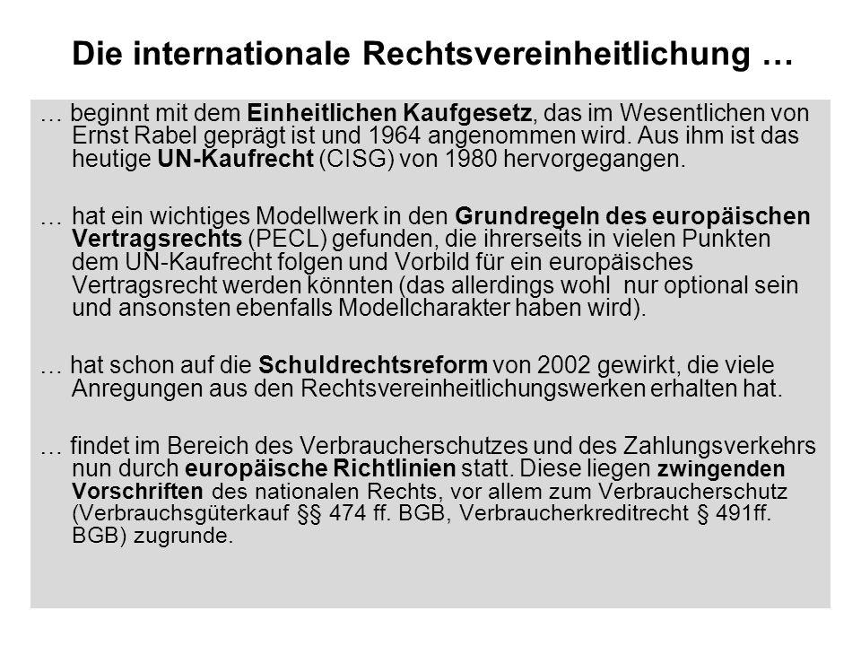 Die internationale Rechtsvereinheitlichung …