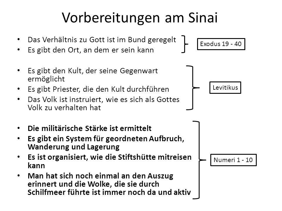 Vorbereitungen am Sinai