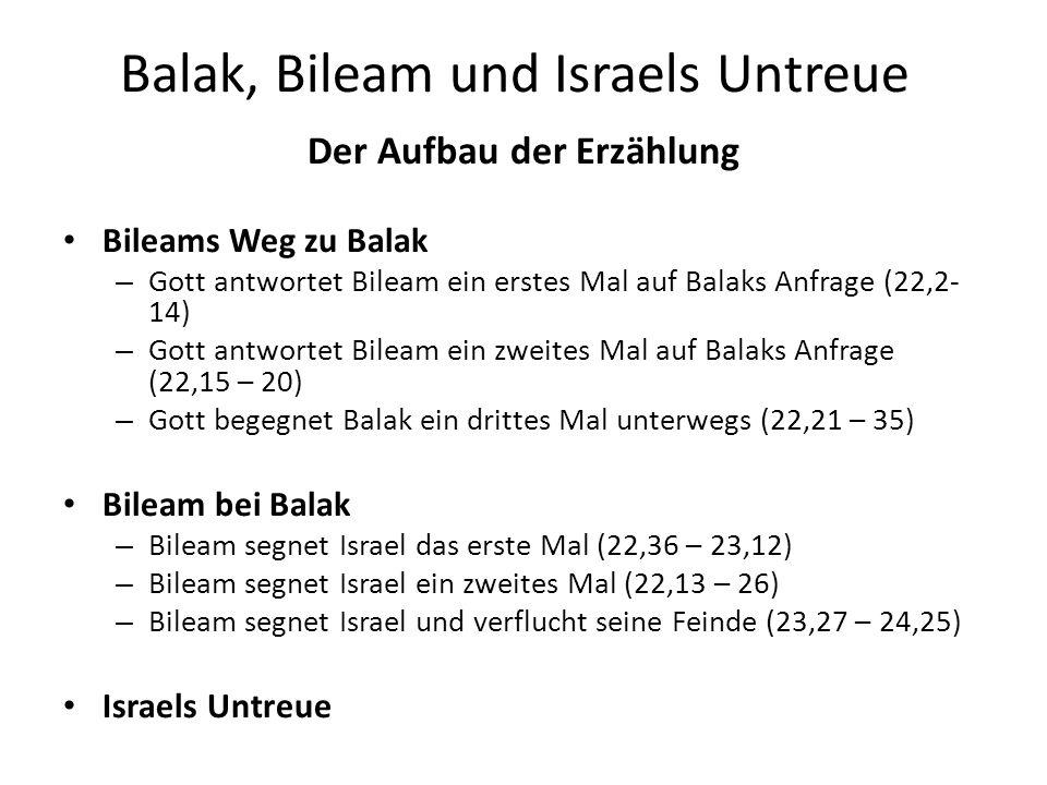 Balak, Bileam und Israels Untreue