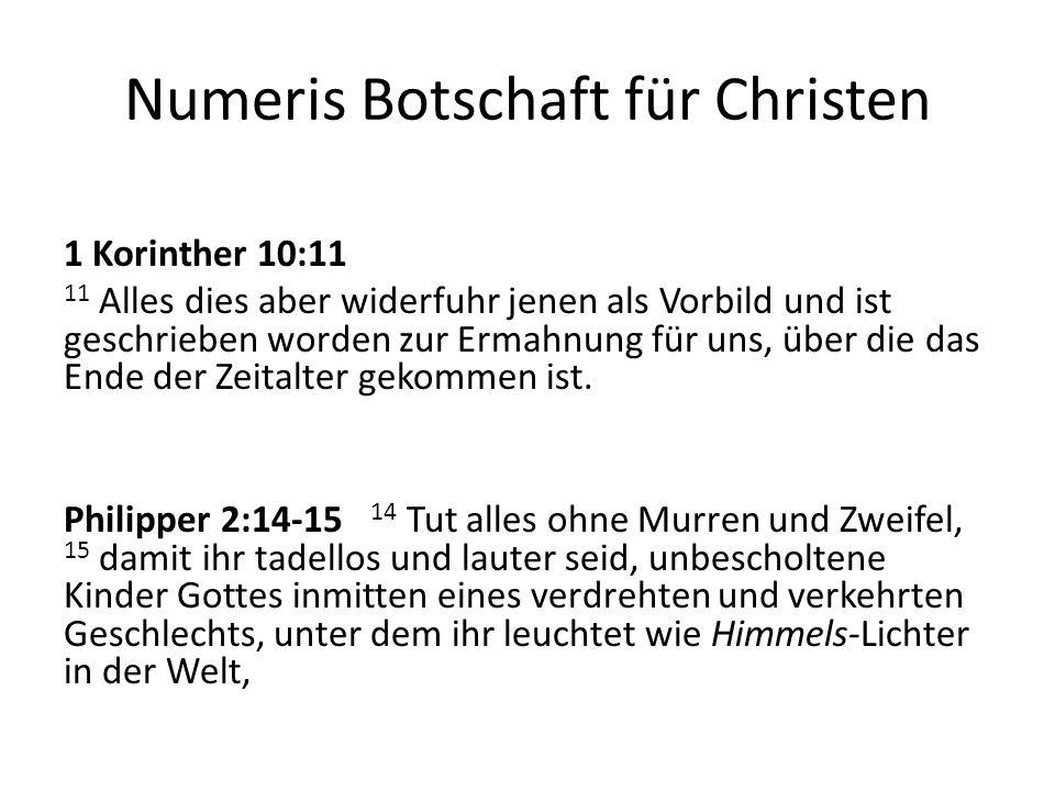 Numeris Botschaft für Christen