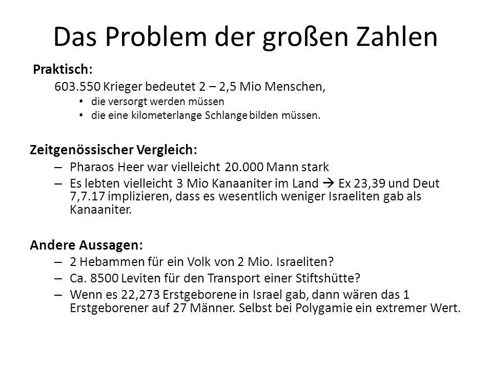 Das Problem der großen Zahlen