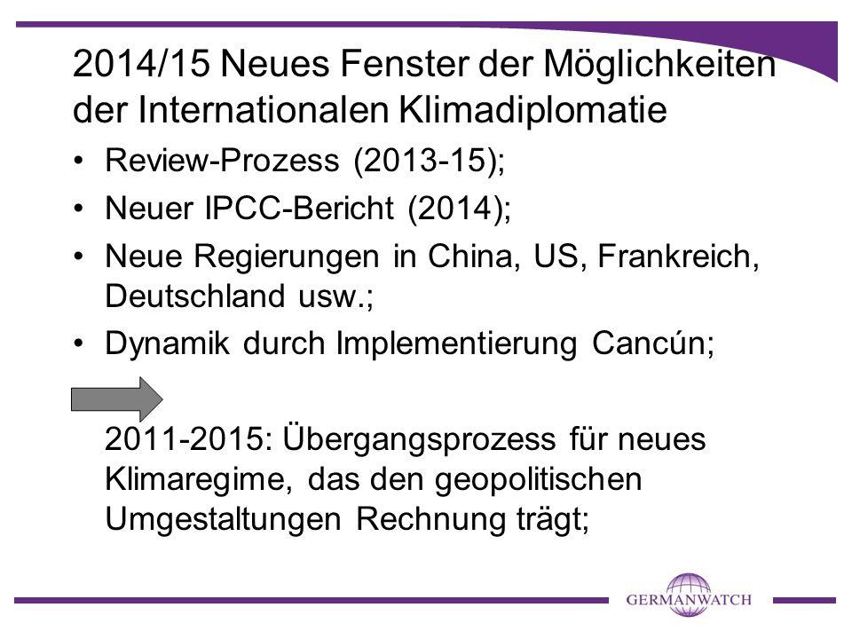2014/15 Neues Fenster der Möglichkeiten der Internationalen Klimadiplomatie