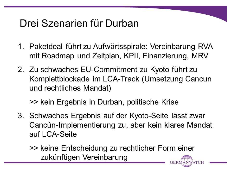 Drei Szenarien für Durban
