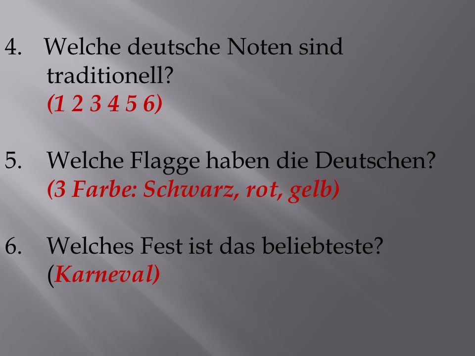 Welche deutsche Noten sind