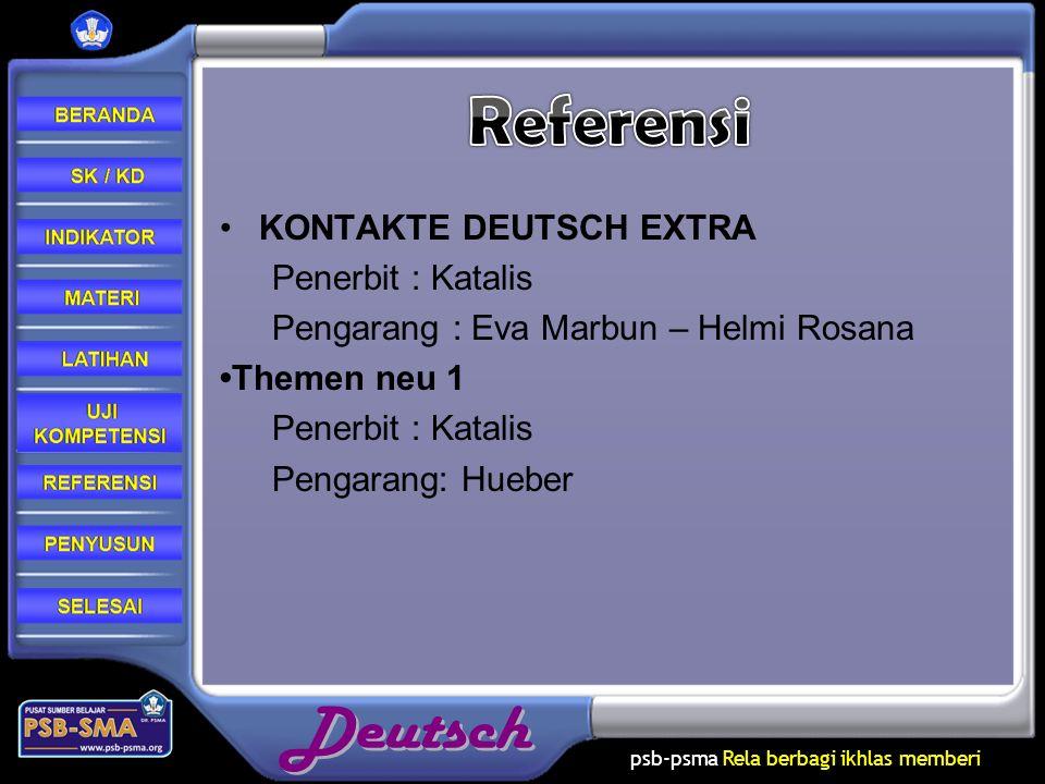 Referensi KONTAKTE DEUTSCH EXTRA Penerbit : Katalis