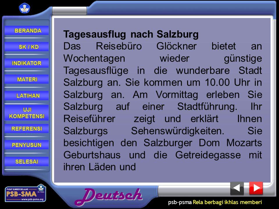 Tagesausflug nach Salzburg