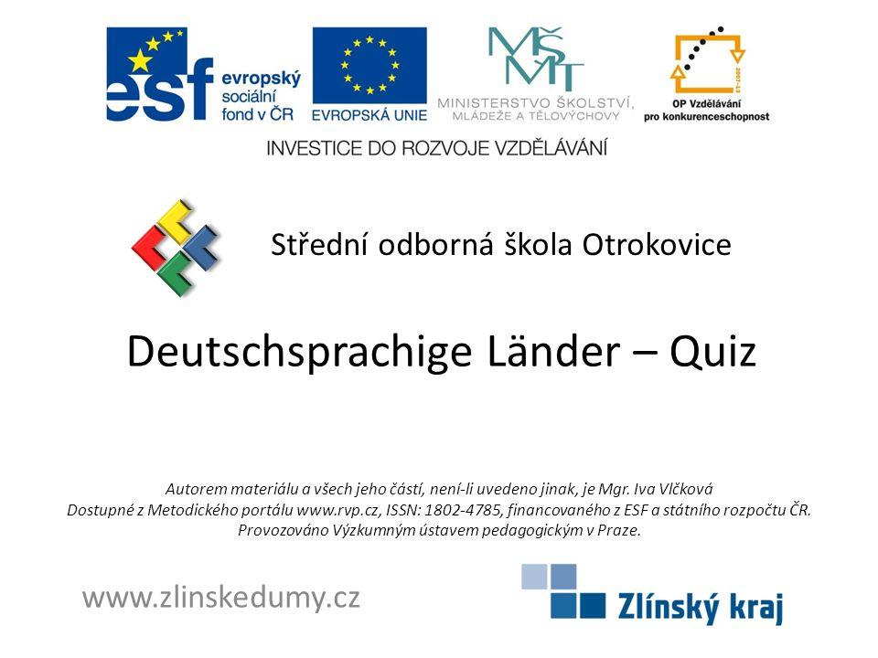 Deutschsprachige Länder – Quiz