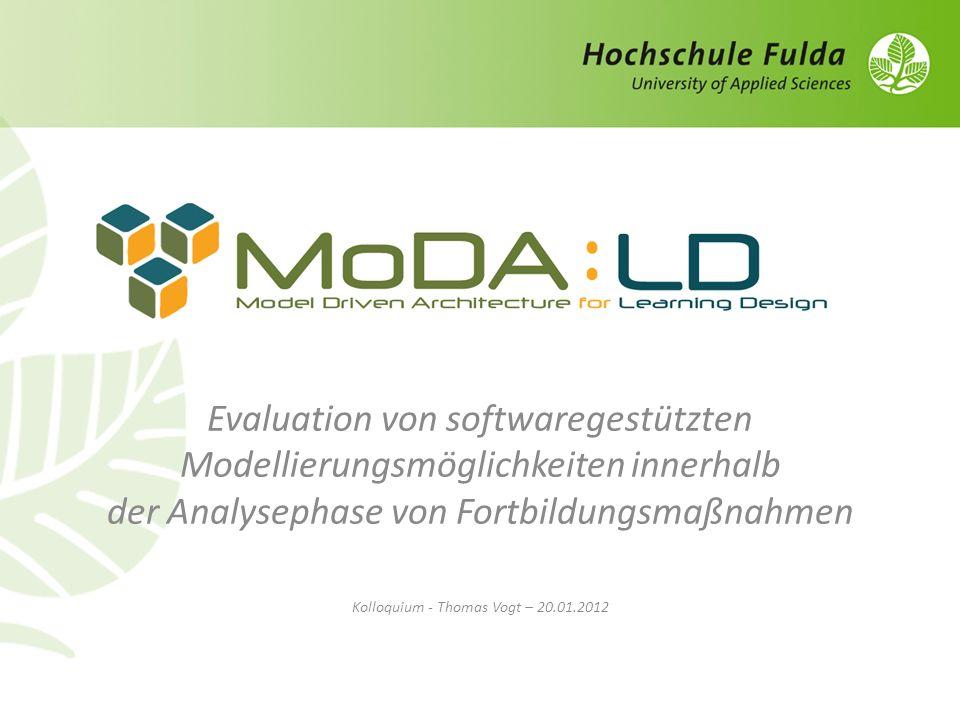 Evaluation von softwaregestützten Modellierungsmöglichkeiten innerhalb