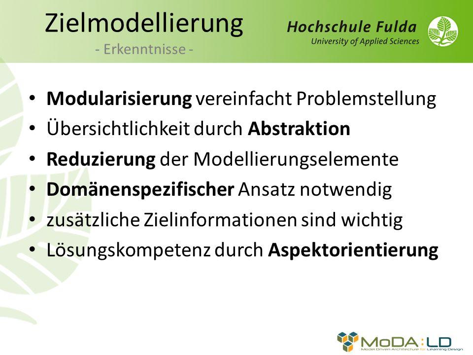 Zielmodellierung - Erkenntnisse -