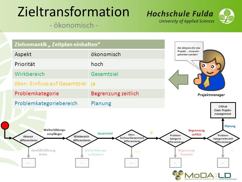 Zieltransformation - ökonomisch -