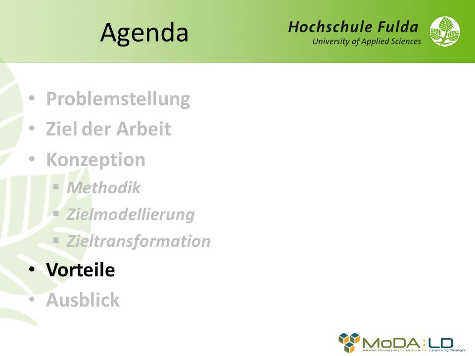 Agenda Problemstellung Ziel der Arbeit Konzeption Vorteile Ausblick