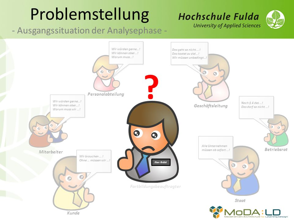 Problemstellung - Ausgangssituation der Analysephase -