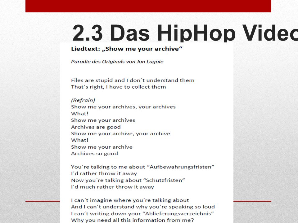 2.3 Das HipHop Video