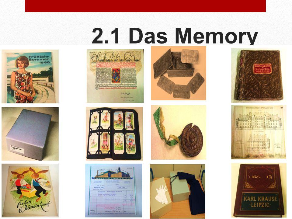 2.1 Das Memory