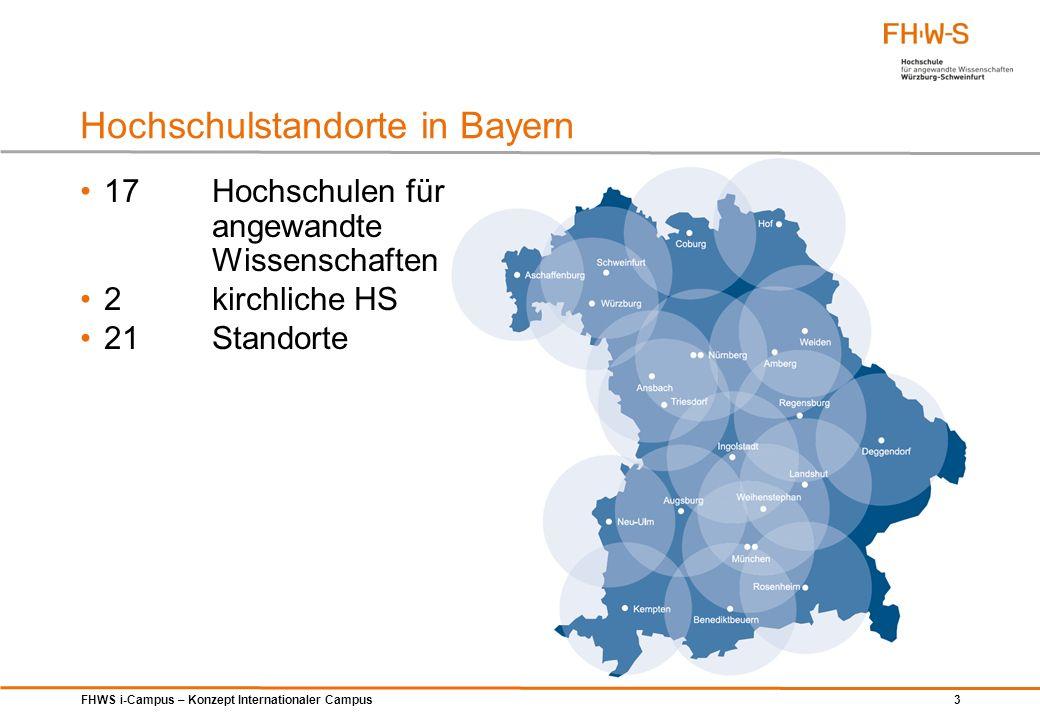 Hochschulstandorte in Bayern