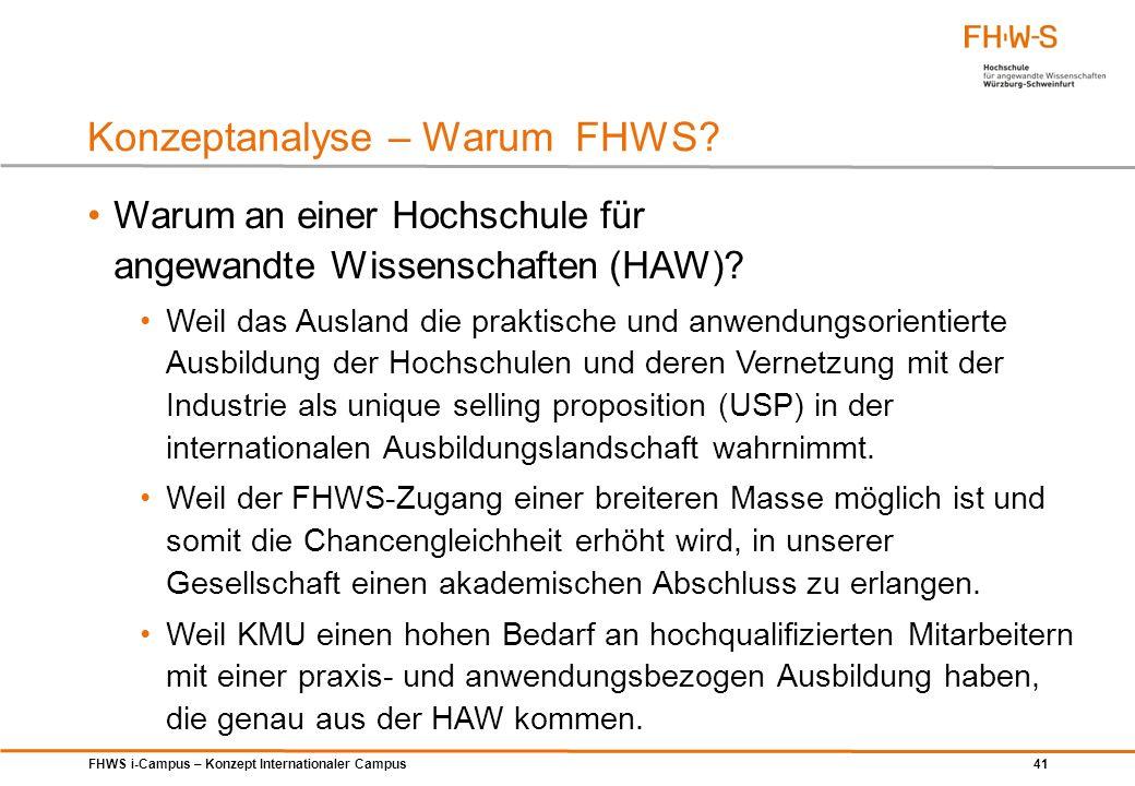 Konzeptanalyse – Warum FHWS