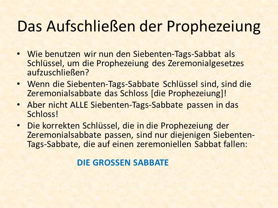Das Aufschließen der Prophezeiung