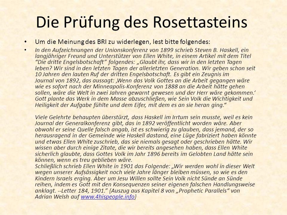 Die Prüfung des Rosettasteins