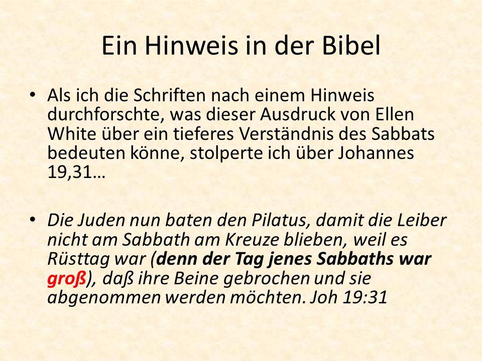 Ein Hinweis in der Bibel