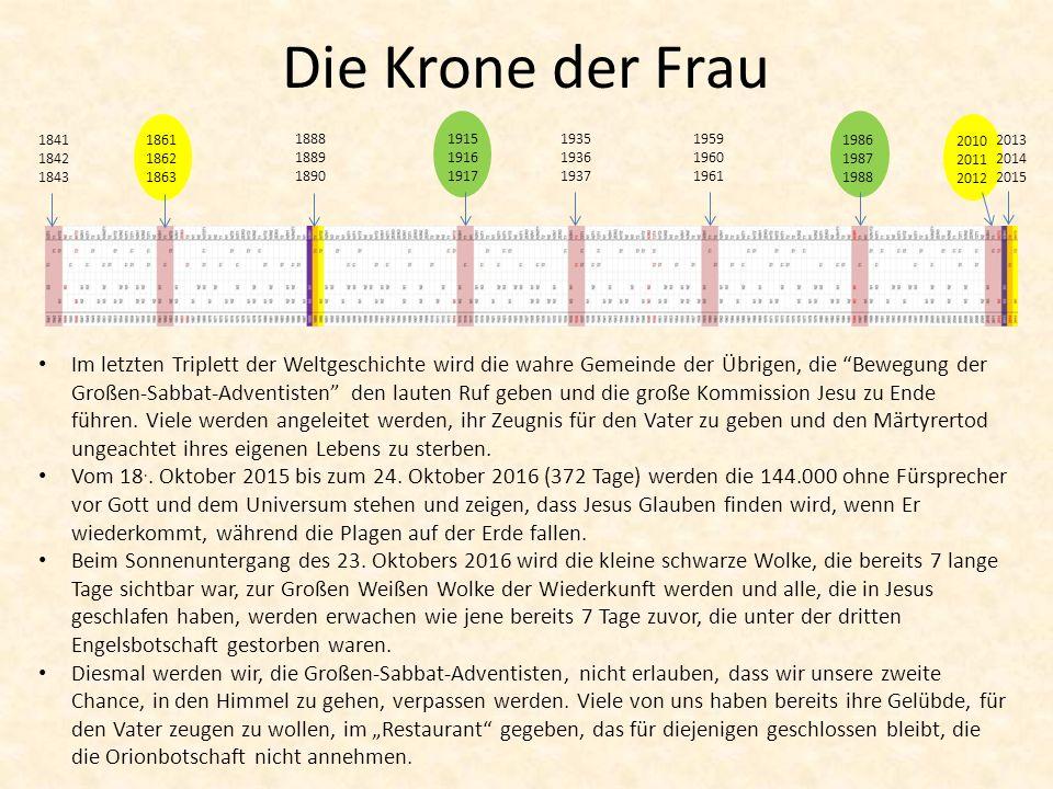 Die Krone der Frau 1841 1842 1843. 1861 1862 1863. 1888 1889 1890. 1915 1916 1917. 1935 1936 1937.