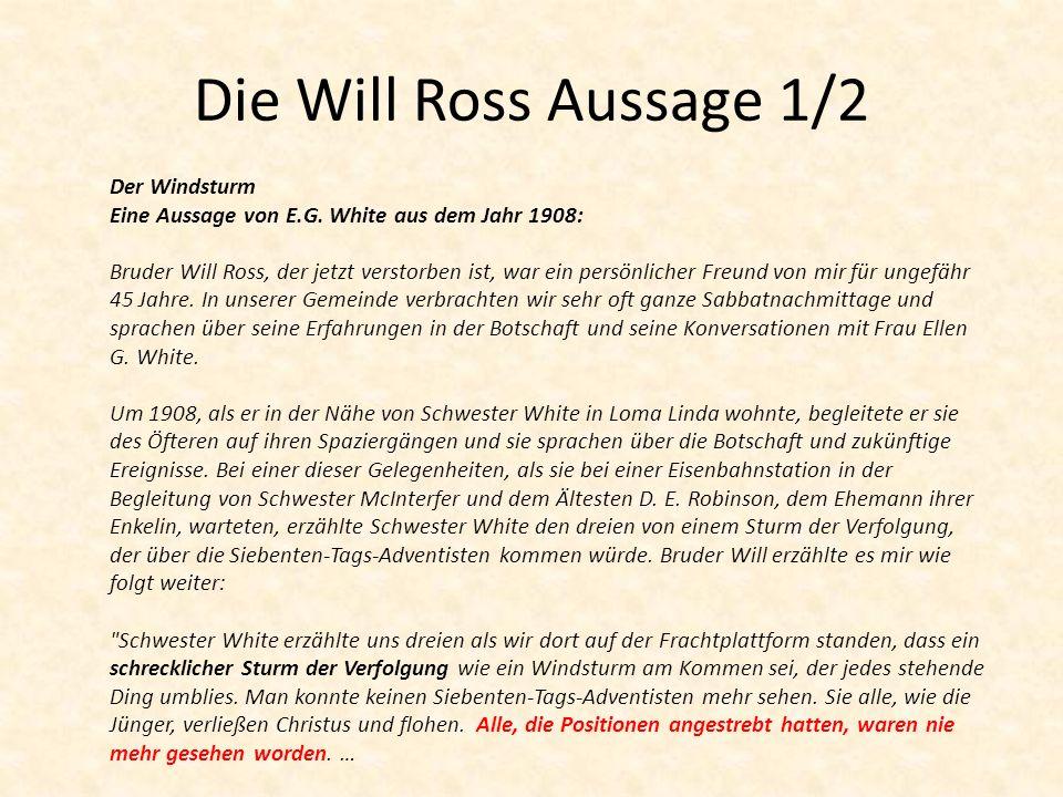 Die Will Ross Aussage 1/2