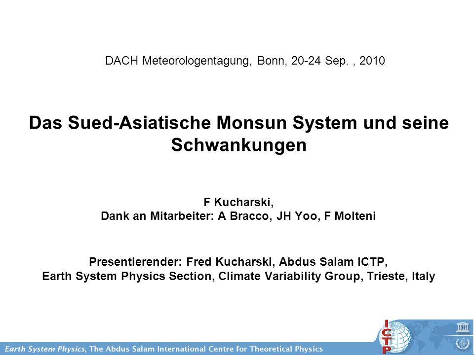 Das Sued-Asiatische Monsun System und seine Schwankungen