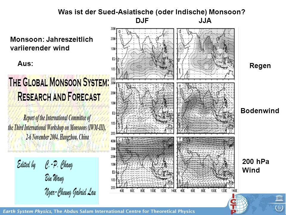 Was ist der Sued-Asiatische (oder Indische) Monsoon