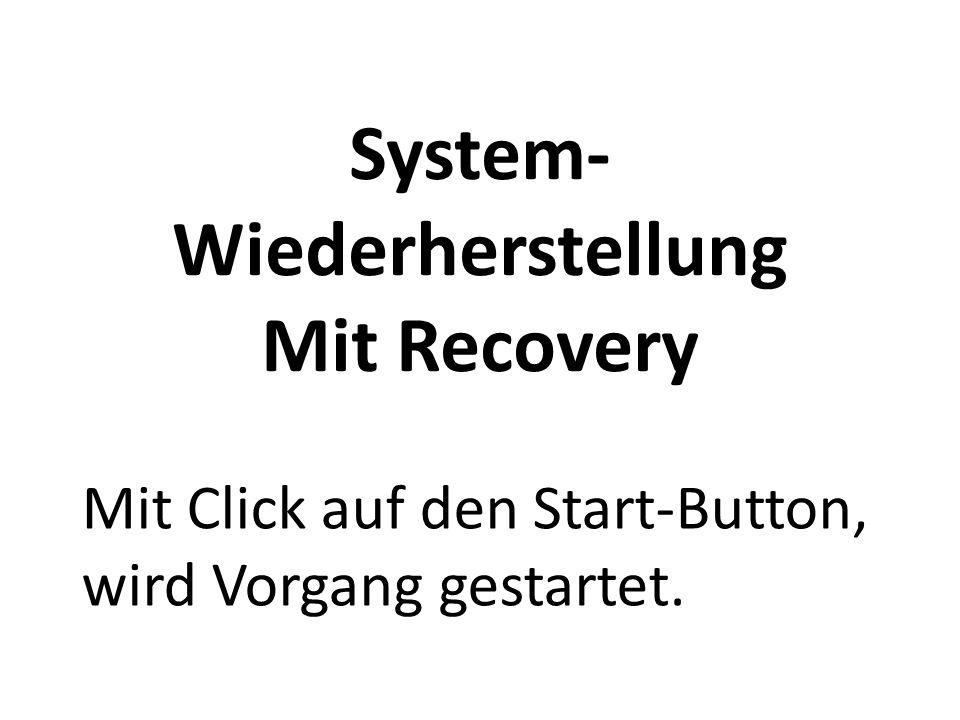 System- Wiederherstellung