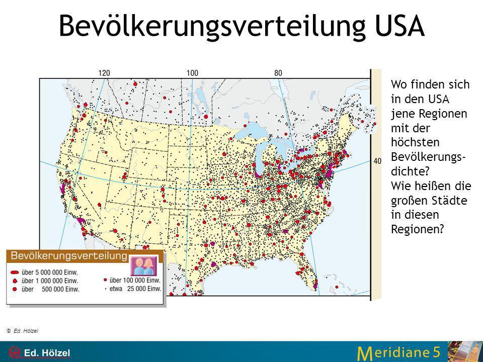 Bevölkerungsverteilung USA