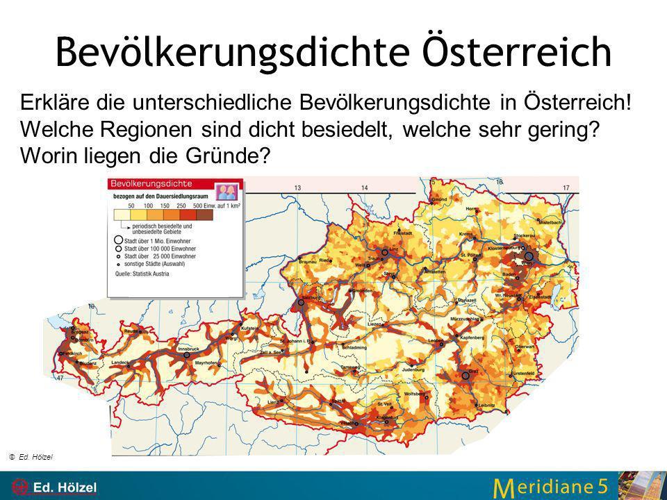 Bevölkerungsdichte Österreich