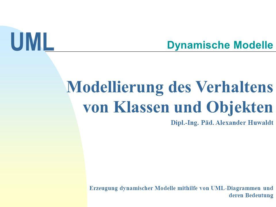 UML Modellierung des Verhaltens von Klassen und Objekten