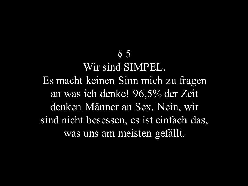 § 5 Wir sind SIMPEL.