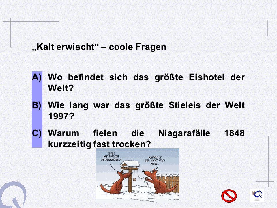 """""""Kalt erwischt – coole Fragen"""