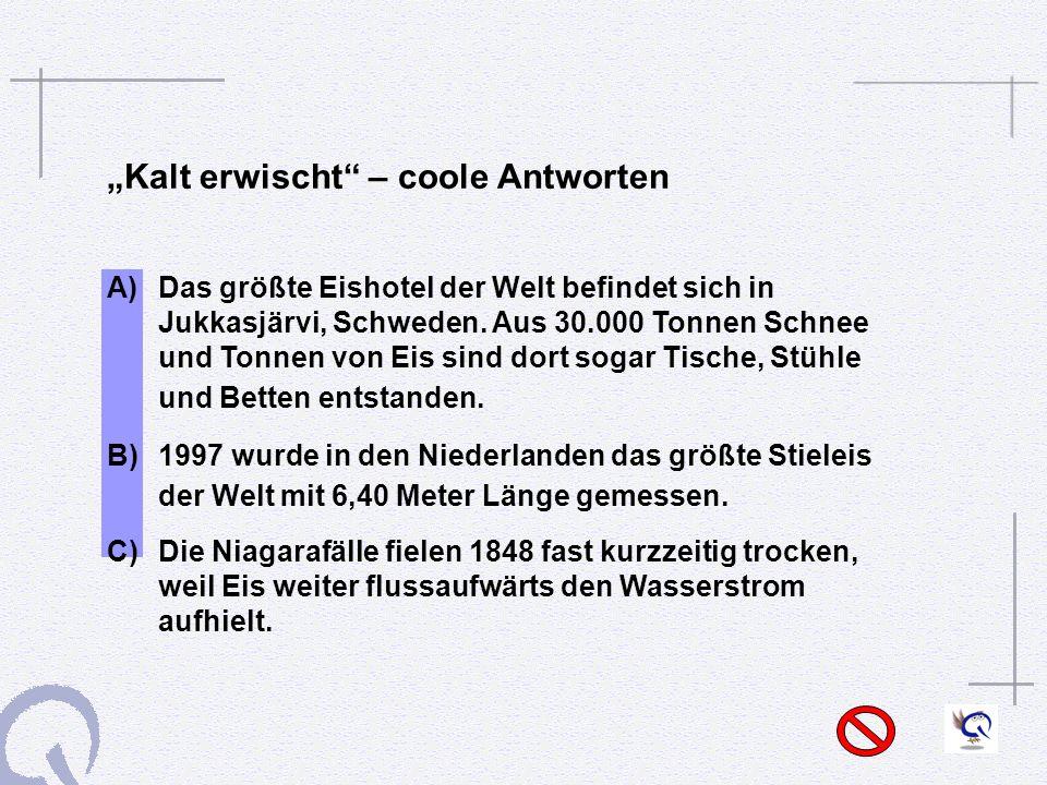 """""""Kalt erwischt – coole Antworten"""