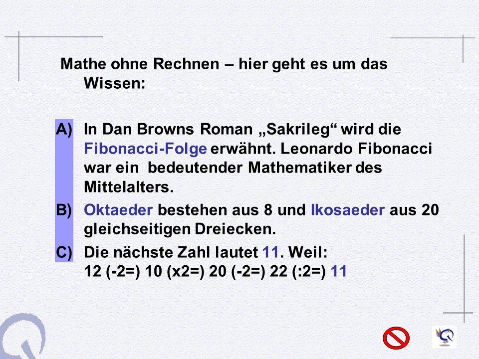 Mathe ohne Rechnen – hier geht es um das Wissen: