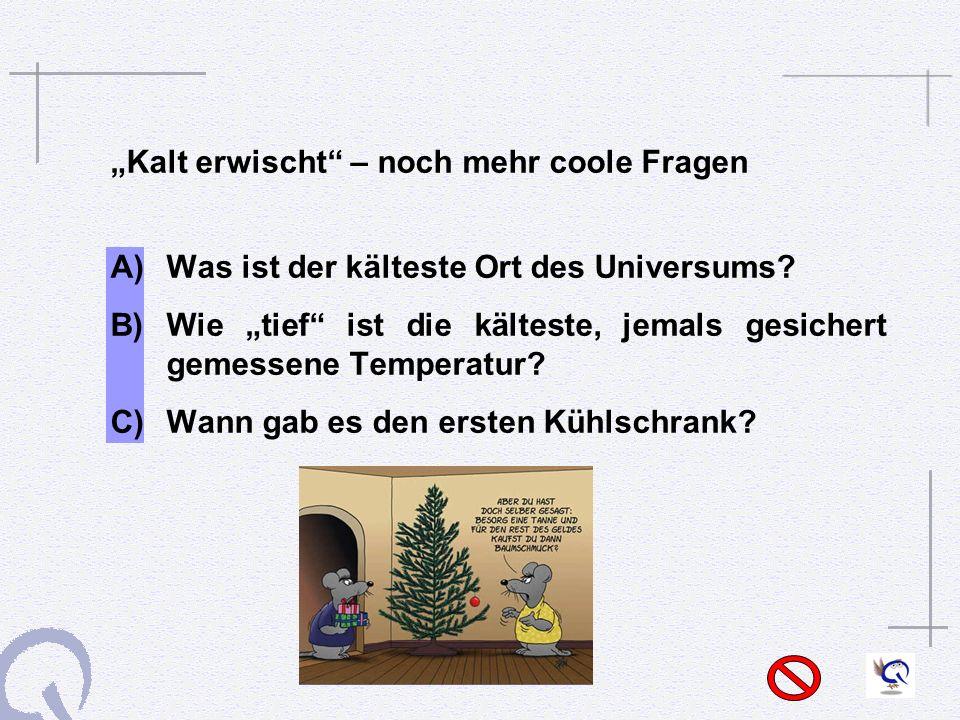 """""""Kalt erwischt – noch mehr coole Fragen"""